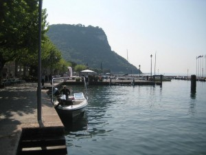 Boot am Gardasee in Garda