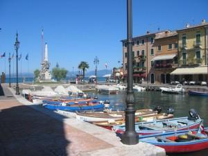 Lazise Hafen am Gardasee