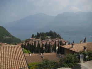 Pieve Gardasee Dorf Blick