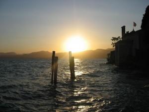 Sonnenuntergang Gardasee Punta San Vigilio