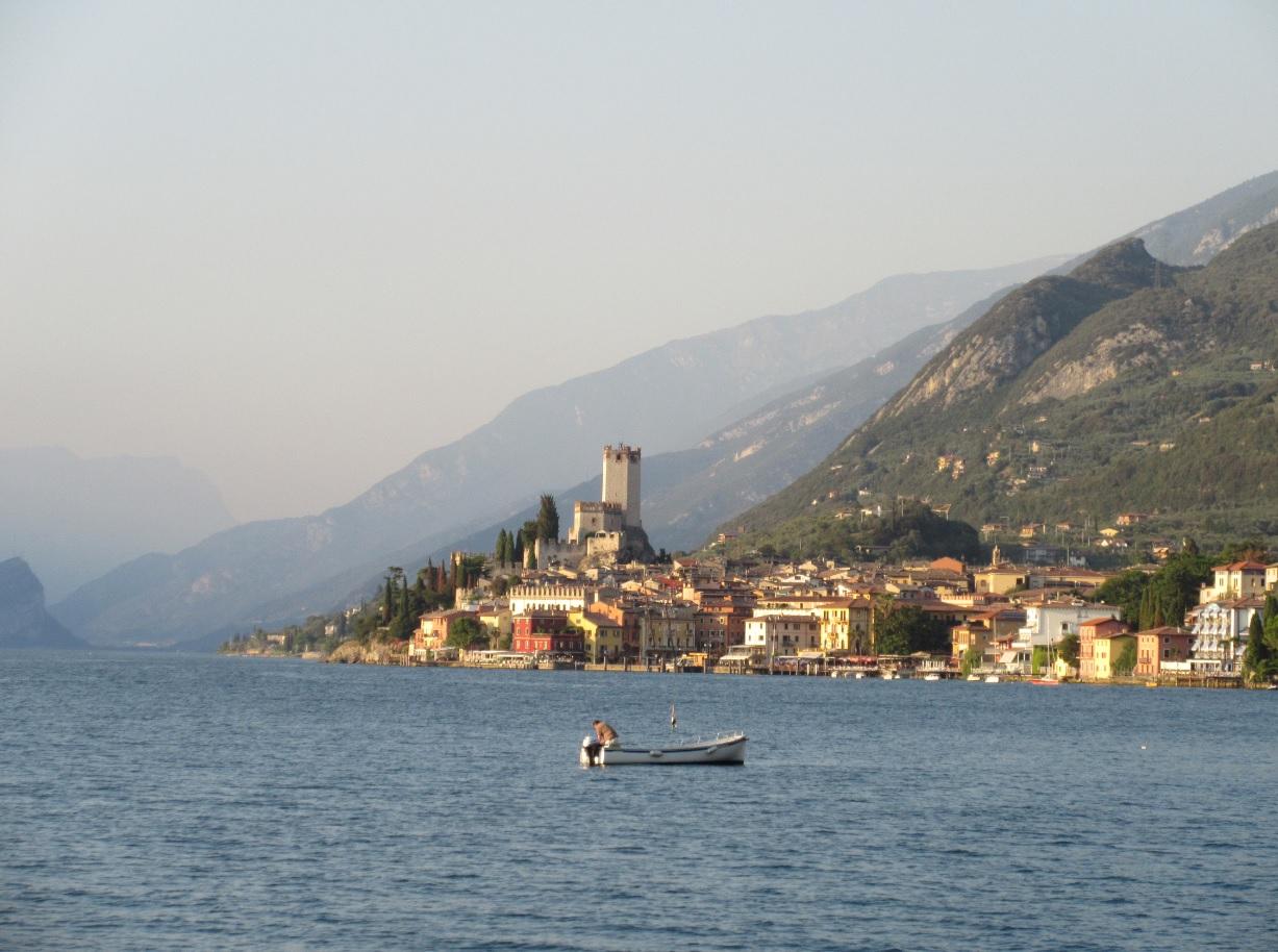 Ausblick auf Malcesine am Gardasee